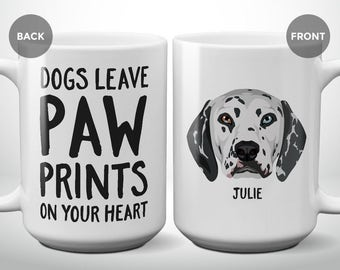 Julie - Dogs Leave Paw Prints On Your Heart | Fundraiser Mug