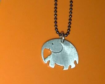 Hand Pierced Elephant Pendant-Elephant Jewelry