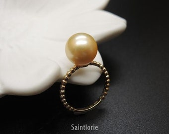 9-10mm South Sea Pearl Engagement Ring