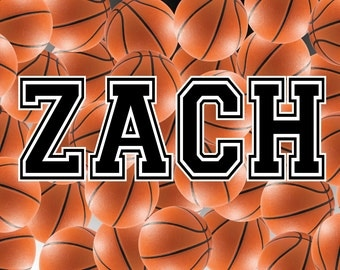 Personalized Basketball Floor Mat