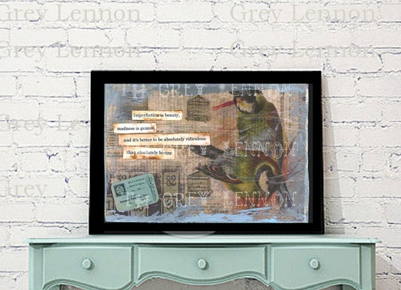Marilyn Monroe Quote Mixed Media Digital File Created by The Grey Lennon