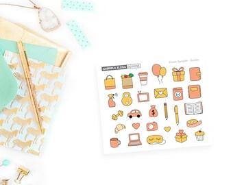 Drawn Monochrome Samplers / Pastel / Golden