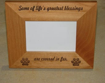 laser engraved wood picture frame pet photo frame engraved photo frame engraved pet lover gift idea