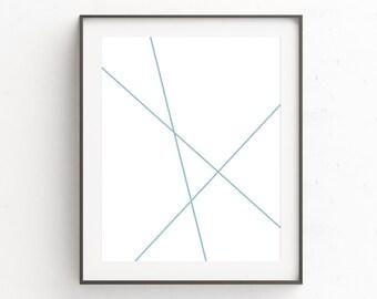 Teal Wall Art Decor, Abstract Print, Large Abstract Decor, Geometric Poster Art, Wall Art Livingroom, Livingroom Art, Contemporary Artwork