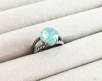 Swarovski Crystal Ring in Pacific Opal