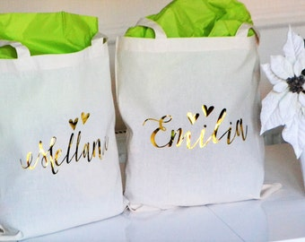Cream Bridesmaid tote, personalised tote, wedding gift, bridesmaid gift, Will you be my bridesmaid.