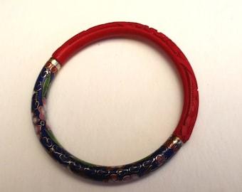 Vintage Cinnabar Cloisonne bracelet