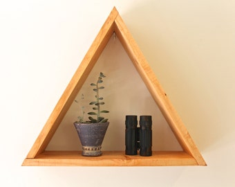 Handmade Triangle Self, Triangle Shelve, Hanging Shelves