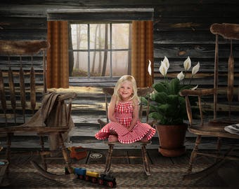 Goldilocks and the Three Bears Digital Background (2 of 2)