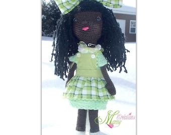 Doll crocheted - poupée au crochet ethnique, crochet doll, girl, fille, femme, women,  little doll, amigurumi