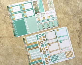 GO WITH All Your HEART : Mini Weekly Sampler Sticker Kit   inkWELL Press Planner   Bound - A5 - Quarterly   LucKaty