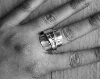 Antique Spoon Ring, Vintage Spoon Ring, Spoon Jewellery, Silver Spoon Ring, Recycled Spoon Ring, Spoon Jewelry, Cutlery Jewellery,Spoon Ring