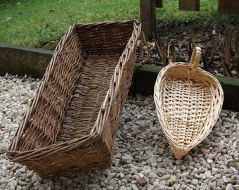 Basket Baker vintage / basket bread Baker vintage / rectangular basket is hand made in France of 1950