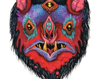 Bat Mask of Triangelos the Mangler - 8 x 10 PRINT