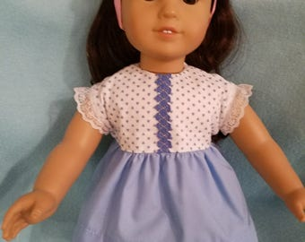 """Dixie-crafted Blue Hearts Bloomers designed to fit 18"""" Dolls including those from the American Girl Doll Clothes Company"""