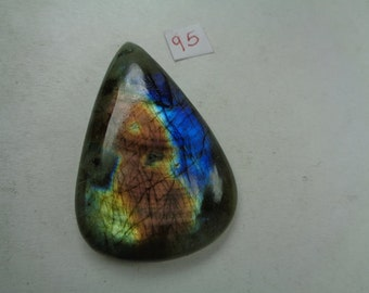 Labradorite - Pear Shaped Cabochon - 32x45 mm - 77.9 Ct