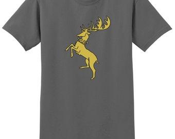 GOT Baratheon Family T-Shirt, Custom GOT Shirt, Baratheon Shirt, Sizes S-5XL, Gift for Her, Gift for Him. 2000