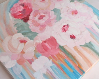 End of Peonies Season Acrylic Painting (Original)