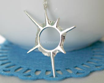 Solar Eclipse Necklace - Sun Jewelry - Moon Necklace - Original - Dainty Chain - Silver - Gold - Gift Ideas - Best Friend Gift- Gift for her