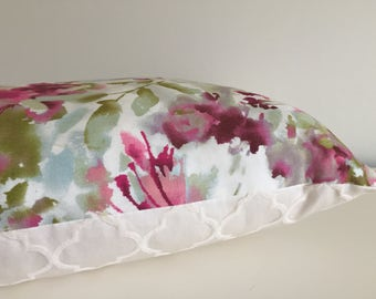 Pillow Cover Pink Watercolors