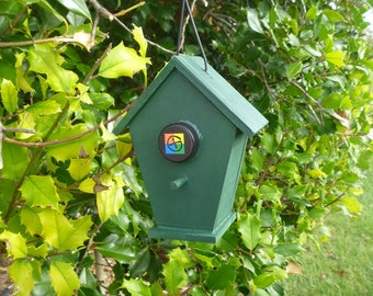 Bird House Geocache Container