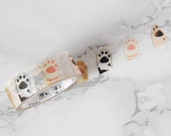 Cat Paws Washi Tape - Cat Washi Tape - Cats Paws Tape - Cat Stationery