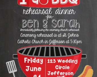 i do bbq  [rehearsal dinner invitation]