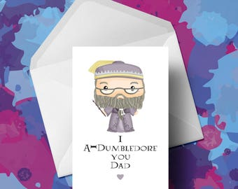Harry Potter - Dumbledore - Fathers Day Card