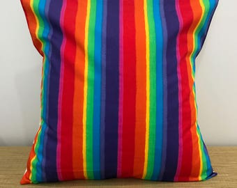 "Cushion Cover LGBT Gay Pride Rainbow decorative throw pillow. 18"" (45cm). Cushions Australia"