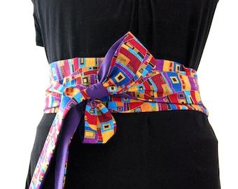 Obi belt fabric geometrical gilding japanese belt