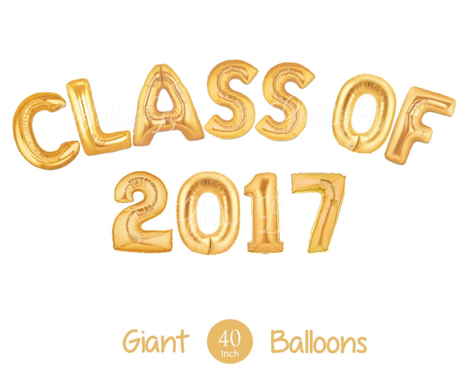 Giant CLASS OF 2017 Letter Balloons 40