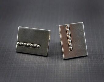 Vintage Cuff Links Swank Silver Tone
