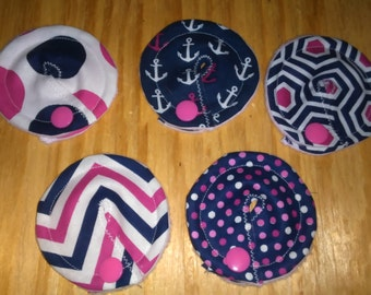 Gtube GJ PEG Button Gastrointesinal Medical Pads Cover set of 5 - Pink and Blue Mix- Made Ready to Ship