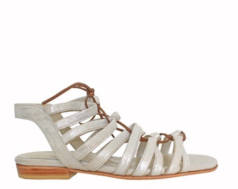 FRANCIS Silver - Sandals Mary - 100% leather - free shipping