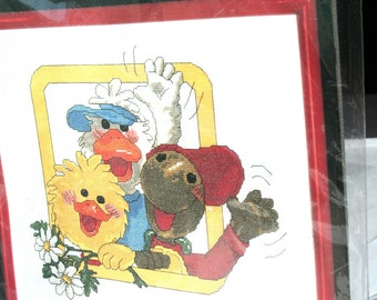 Suzy's Zoo Counted Cross Stitch by Janlynn 3850  12 x 14 Unopened Suzy's Zoo Cross Stitch, Suzy Duck Suzy and Friends Craft Project, Vintage