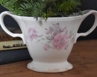 Vintage Sugar Bowl - Vintage Vase - Vintage Decor - Floral Vase