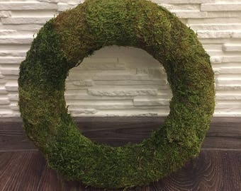 Moss wreath Woodland wreath Natural wreath Woodland wedding Rustic wreath