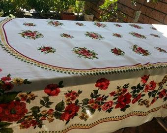 Sale Vintage Large Oblong Tablecloth