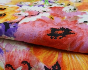 """Indian Decorative Cotton Fabric For Sewing Designer Cotton Fabric Multicolor 42"""" Wide Floral Printed Woman Dress Crafting By 1 Yard ZBC6804A"""