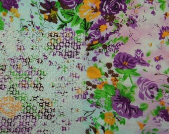 """Upholstery Fabric, Floral Print, Embroidery Fabric, Sewing Material, White Fabric, 44"""" Inch Cotton Fabric By The Yard ZBC7670A"""