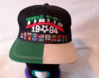 Vtg 1994 USA World Cup Italia Snapback hat cap Football Futbol