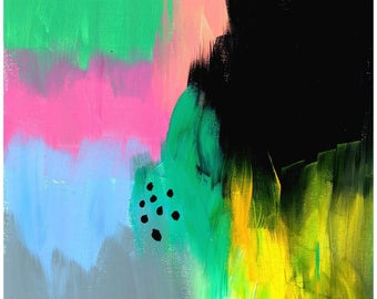 Abstract Art Print | Pastel Speck