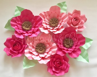 Paper flowers - large paper flowers - home decor - nursery - bedroom