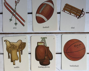 Vintage Flash Card Games Sports / 70's Flash Cards