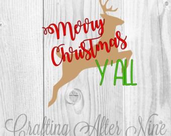 Merry Christmas SVG, Christmas Shirt Svg, Holiday Svg, Reindeer svg file, Christmas Svg Designs, Christ Svg Files for Cutting Machines