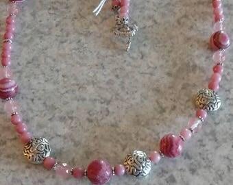 Rose Pink Rhodochrosite Necklace