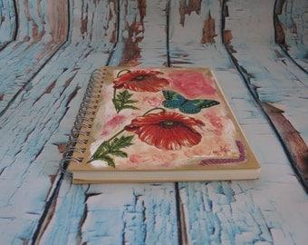 "Handmade ""Poppy History"" Notebook"