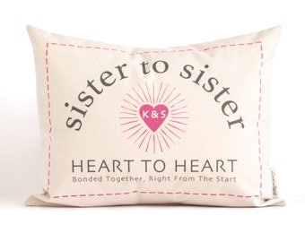 Personalized Gift For Sister, Sister Gift, Sister To Sister, Going Away Gift, Customized Pillow, Throw Pillows, Home Decor