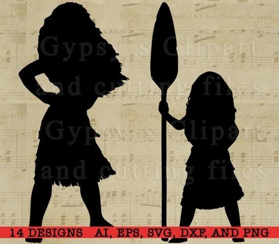 Moana Silhouette Disney Princess Moana Disney Svg By