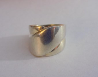 Sterling silver wide band ring size 7